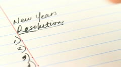 New years resolutions with actual tasks Stock Footage