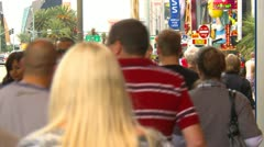 Las Vegas, day, people on the strip, LS - stock footage