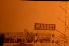 madrid spain sign (archival 1952) - stock footage