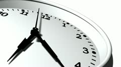 3D Clock Ticking Fast Time Stock Footage