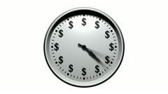 Time is money - dollar clock Stock Footage