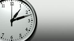 3d clock ticking fast (hd loop) Stock Footage