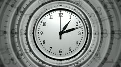 Wall clocks fast time Stock Footage