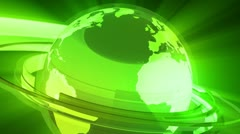 Earth Globe Animation (3D Glass World) - stock footage