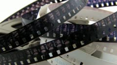old 8mm film in canister - stock footage