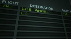 Airport Flight Information Board Animation Stock Footage