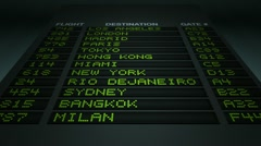 Airport flight information board Stock Footage