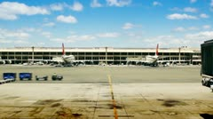 Airport Gates, Planes & Tarmac Stock Footage