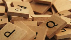 Wooden alphabet letters Stock Footage