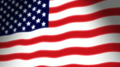 American Flag Waving - stock footage