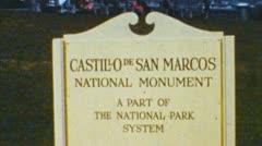 Castillo de san marcos (archival 1950s) Stock Footage