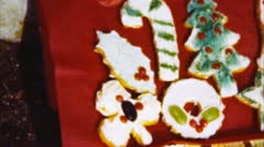 christmas cookies (archival 1950s) - stock footage