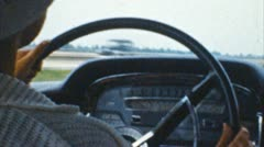 Driving a car (archival 1950s) Stock Footage