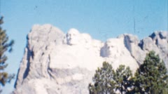 Mount rushmore (archival 1950s) Stock Footage