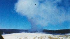 Old faithful geyser, yellowstone park (archival 1950s) Stock Footage