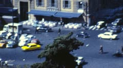 Rome, Italy Traffic (Old Film - Archival 1960) Stock Footage