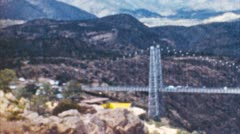 royal gorge bridge (archival 1950s) - stock footage
