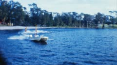 Water Ski Show (Archival 1960s) Stock Footage