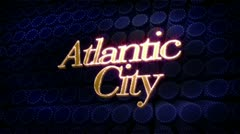 Atlantic city glitz sparkle text Stock Footage
