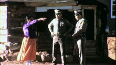 Native American Indian Navajo Police Cops Officers 60s Vintage Film Movie 1555 Stock Footage