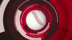 Baseball graphic animation Stock Footage
