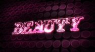 Beauty - glitter sparkle text Stock Footage