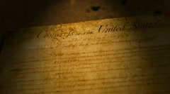 Bill Of Rights, USA - stock footage