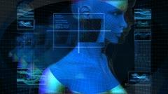 Bionic 3D Woman Profile (HD Loop) Stock Footage