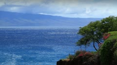 Lanai Island From Maui, Hawaii Stock Footage
