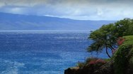 Stock Video Footage of lanai island from maui, hawaii