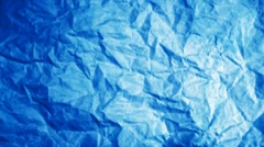 Blue paper with crumpled texture background Stock Footage