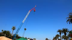 Bungee jumper at the carnival Stock Footage
