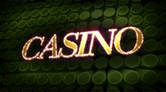 Casino glitz sparkle text Stock Footage