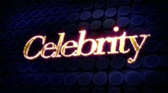 celebrity sparkle glitz text - stock footage