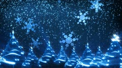 Christmas Trees And Snow Background (Loop) - stock footage