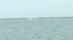 Jet Ski action on Chicago's Lakeshore Stock Footage
