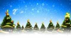 christmas trees and snow (loop) - stock footage
