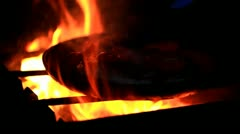 Bright light a fire) Stock Footage
