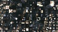 Aerial city buildings (hd loop) Stock Footage