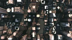 Aerial city buildings (hd loop) Stock Footage
