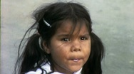 NATIVE AMERICAN INDIAN GIRL Plays 1960s (Vintage Film Retro Movie Footage) 1558 Stock Footage