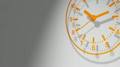 Orange clock 24 hours Stock Footage