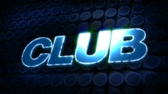 Club glitz sparkle text Stock Footage