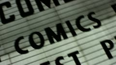 'comics' show marquee sign Stock Footage