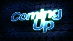 Coming up glitz sparkle text Stock Footage