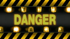 danger industrial wall barricade - stock footage