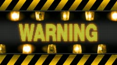 warning - industrial barricade - stock footage