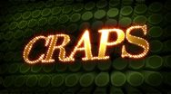 Craps - glitter sparkle text Stock Footage