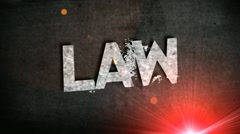 Crime law justice text animation title hd Stock Footage
