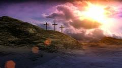 Stock Video Footage of Crosses On Calvary